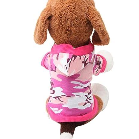 Xinantime Ropa para Perros,Xinan Camiseta para Mascotas Algodón Camo Camuflaje Abrigos (XS,