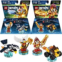 LEGO (Set of 2) Dimensions Legends Of Chima Packs, Laval The Lion & Eris The Eagle Lego Games Toys