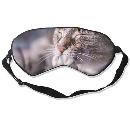 MB32 Máscara de Dormir para Gatos, máscaras Opacas, Ojos relajantes, círculos Oscuros,