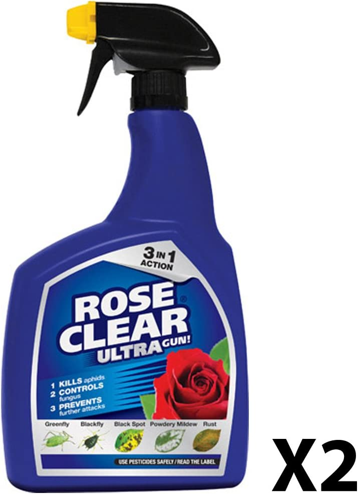 Scotts Miracle-Gro roseclear Ultra pistola. Spray insecticida y fungicida sistémico, 1 L, 1 liters, 1