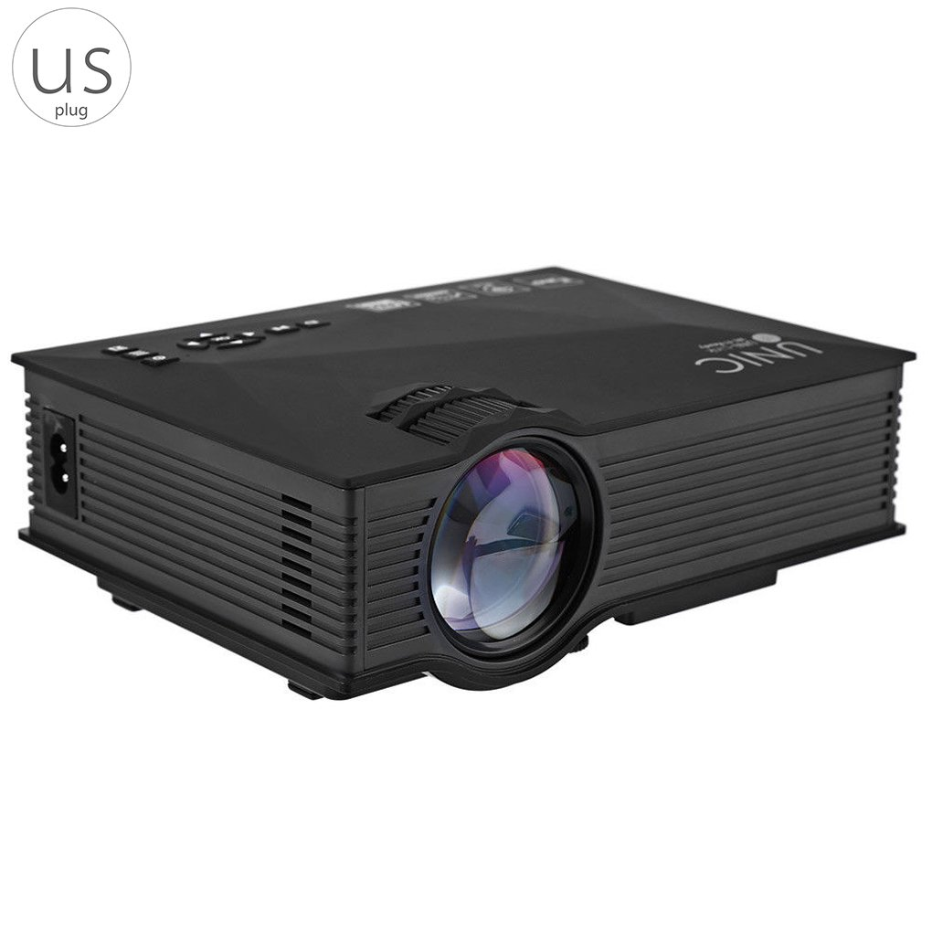 Egal Unic UC46 + Mini Simplified Micro LED Video Home Cinema Projector with WIFI Ready Support Miracast DLNA Airplay for Home