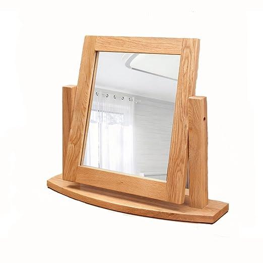 LIEHU HOME- Espejo para maquillarse Espejo de maquillaje de madera ...