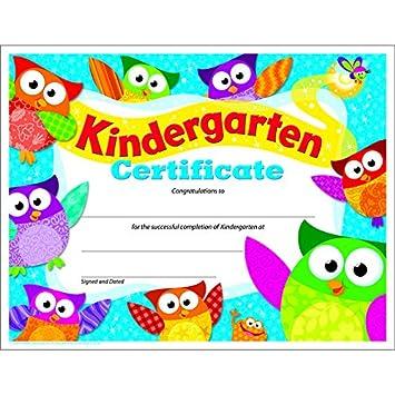 amazon com trend enterprises kindergarten certificate owl stars