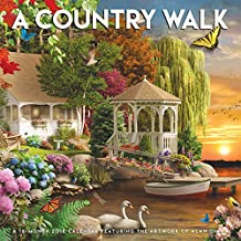 A Country Walk 2018 12 x 12 Inch Monthly Square Wall Calendar Featuring the Artwork of Alan Giana by Hopper Studios, Rural Country Art