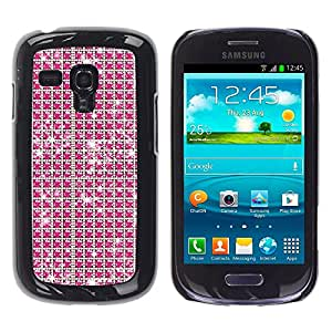 MOBMART Carcasa Funda Case Cover Armor Shell PARA Samsung Galaxy S3 MINI 8190 - Radiant Magenta Diamonds