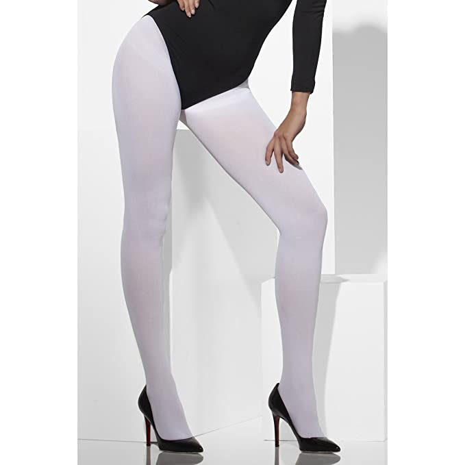 b1821bc392d10 Smiffys White opaque tights for adults 42739: Amazon.co.uk: Toys & Games