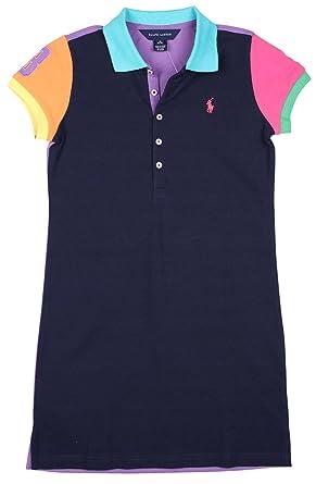 e17f81a5f Amazon.com  Ralph Lauren Girls Pony Logo Polo Dress