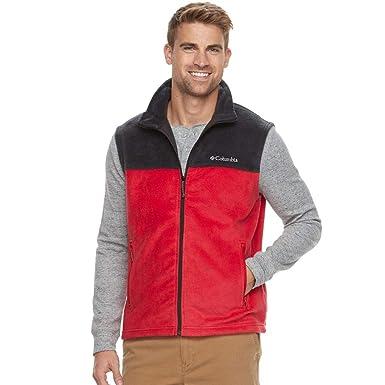 7e8db63669a Image Unavailable. Image not available for. Color: Columbia Flattop Ridge  Men's Full-Zip Red-Black Fleece Vest Medium