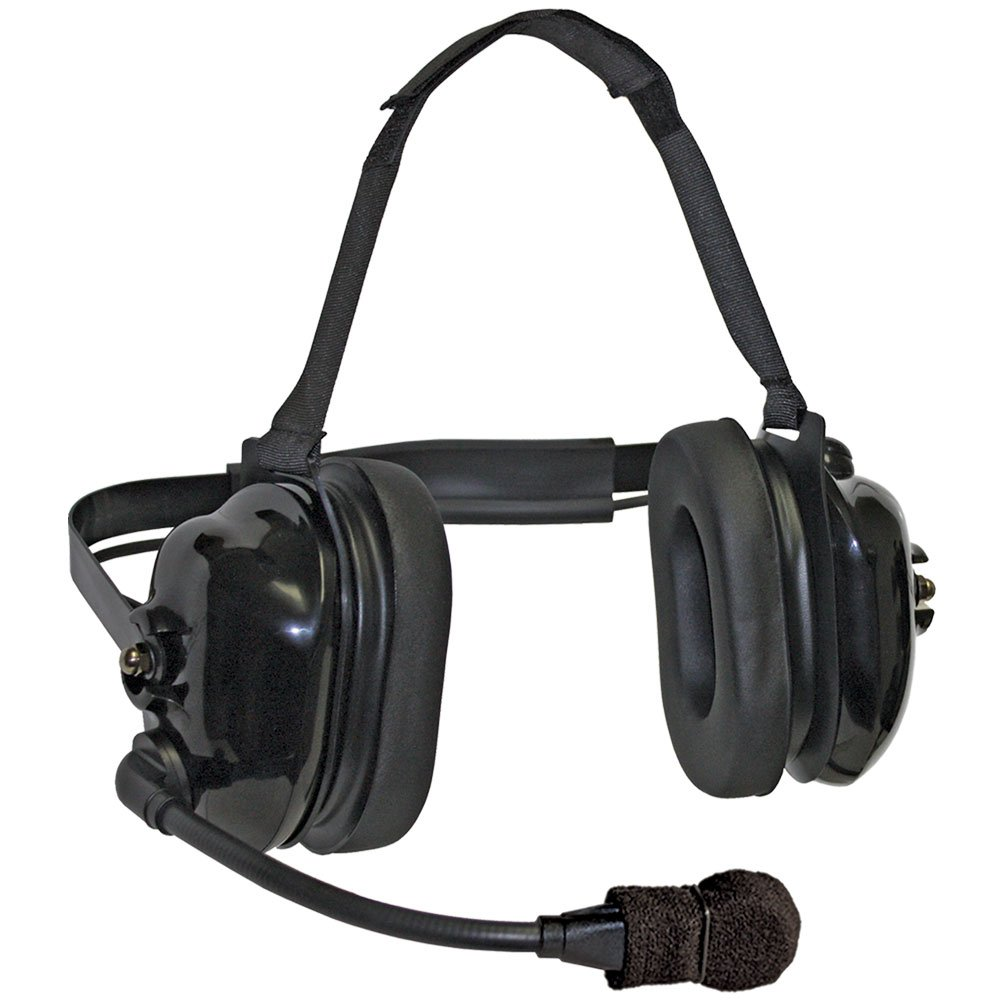 Klein Electronics TITAN-FLEX Titan FlexBoom Headset; Extreme High-Noise, Dual-Muff Headset with FlexBoom Microphone, Foam Pads and Black earshells; Extreme noise reducing-Racing, Manufacturing, Oil Rig, Construction, Engineering, OSHA Compliance