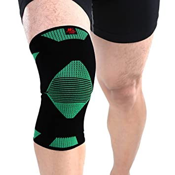 f69899e272 Knee Brace Marktop Knee Compression Sleeve Joint Pain Relief Elastic  Weaving Great for Sports, Hiking