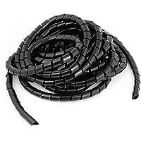 Her Kindness kabelorganizer spiraalkabelslang ø 10 mm voor het bundelen van kabels bij PC TV HIFI-installatie (18m) 10mm