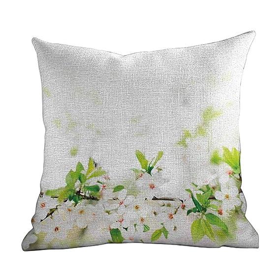 Amazon.com: Matt Flowe Colorful Throw Pillow,Flower,White ...