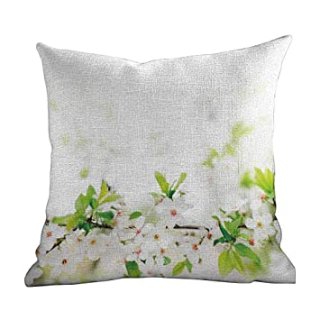 Amazon.com: Matt Flowe Colorful Throw Pillow,Flower,White ...