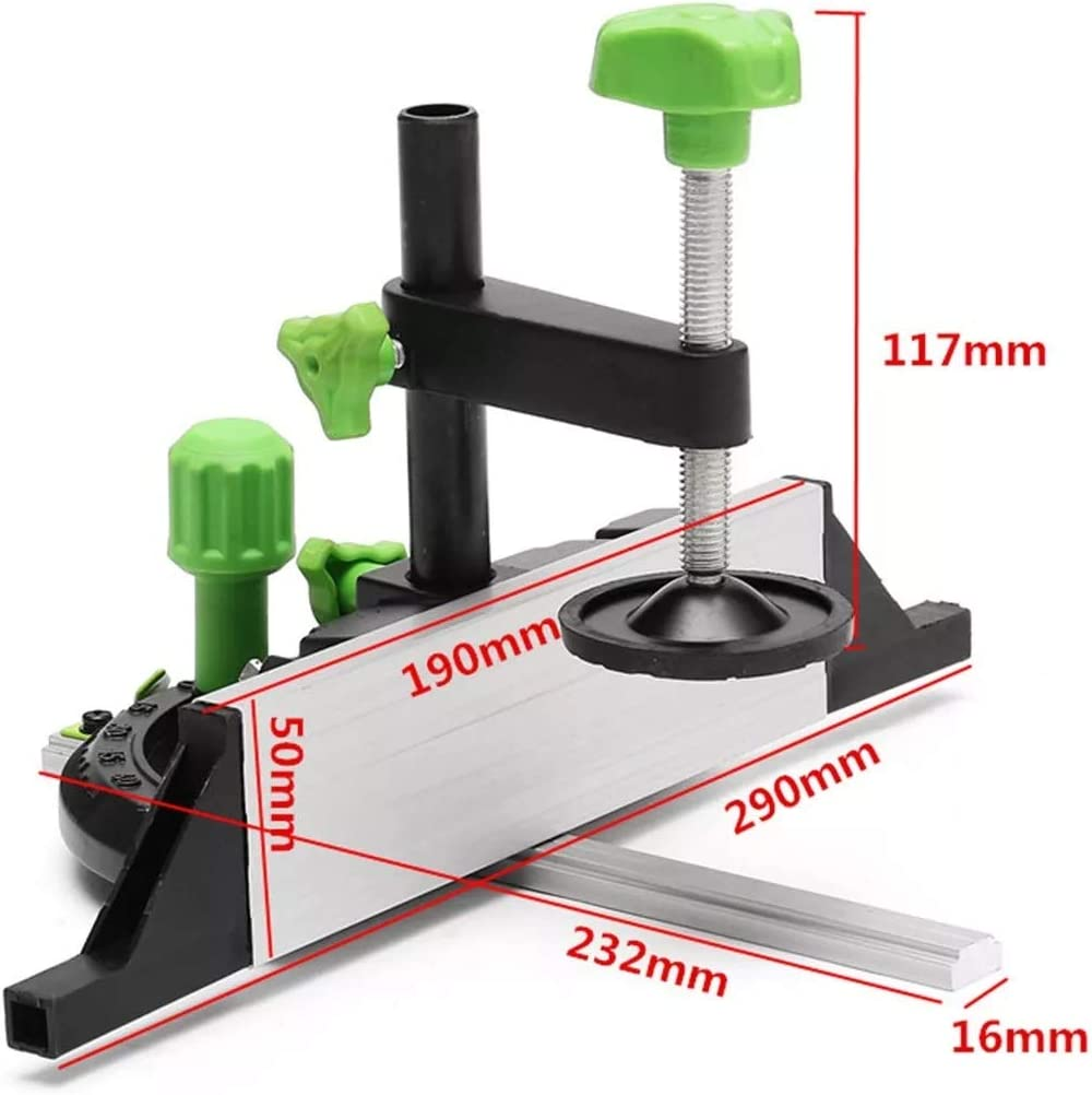 Ctghgyiki Miter Gauge and Box Joint Jig with Flip Stop Woodworking Adjustable Tool for Bosch Woodworking Tools