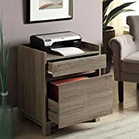 Tracey Two Drawer Filing Cabinet - 22W Rustic Gray Laminate Dimensions: 22.01W X 17.17D X 27.01H Weight: 47 Lbs