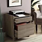 Tracey Two Drawer Filing Cabinet - 22''W Rustic Gray Laminate Dimensions: 22.01''W X 17.17''D X 27.01''H Weight: 47 Lbs