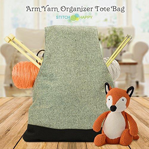 Stitch Happy Arm Yarn Organizer Tote Bag - Wrist Style, No-Snag, Ergonomic Knitting & Crochet Project Travel Storage