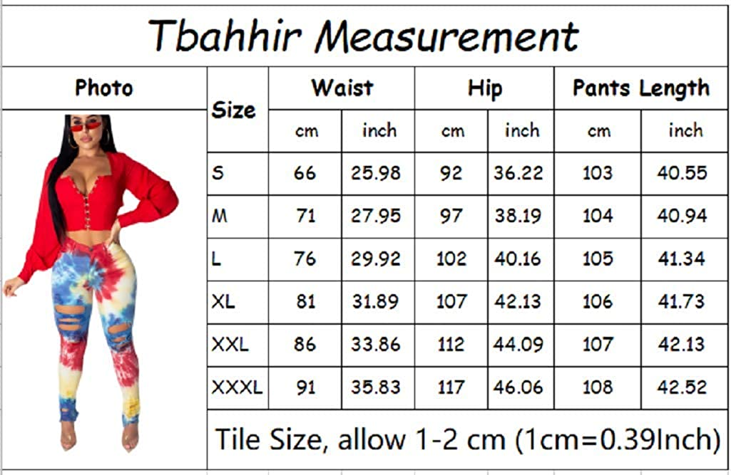 Tbahhir Womens Boyfriend Jeans Distressed Slim Fit Ripped Jeans Comfy Stretch Skinny Tie Dye Pants Plus Size