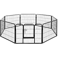 Pet Dog Playpen Cage Portable Exercise Cage Fence Cat Rabbit Small Animal Crate 60cm Height – i.Pet