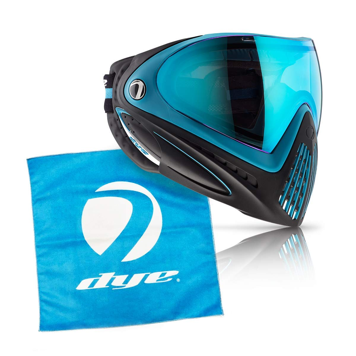 Dye i4 Paintball Goggle (Powder Blue with Lens Cloth) by Dye