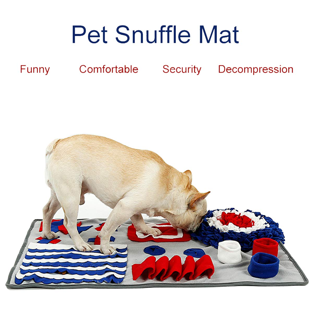 LYCXC Dog Snuffle Mat Feeding Mat Nosework Blanket Dog Training Mats Interactive Pet Toy Mat for Dogs Cat Stress Release(29.5'' x 19.6'') by LYCXC