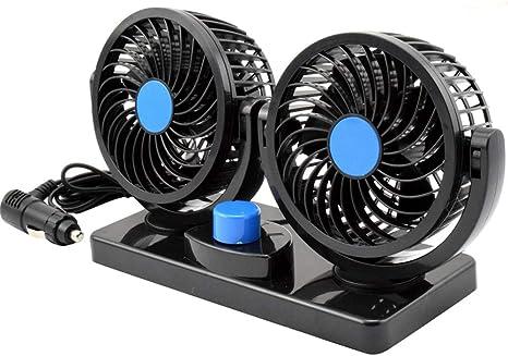 Taotuo Ventilador eléctrico de Coche de 12 V, rotación de 360 ...