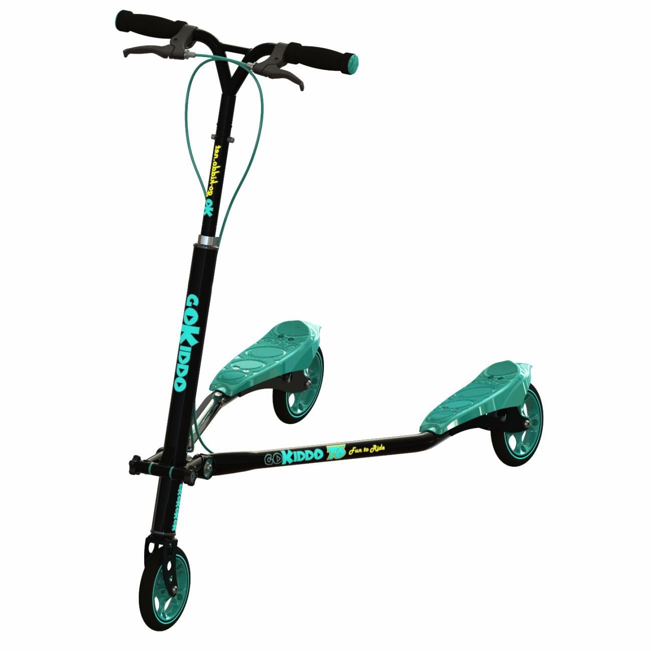 Go-Kiddo T6 Carving Scooter, Black by Go-Kiddo