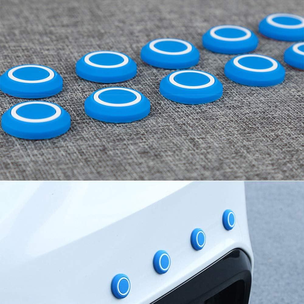 LEIWOOR 10 Pcs Door Edge Trim Guard Corner Bumper Protector Round Protective Sticker Car Anti-Collision Anti-Scratch Black