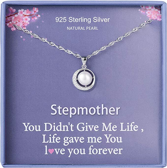 Step Mom Jewelry Step Mother Necklace from Daughter in Law Stepmom of Groom Necklace Wedding Day Gift Ideas STEPMOTHER of the Groom Gift