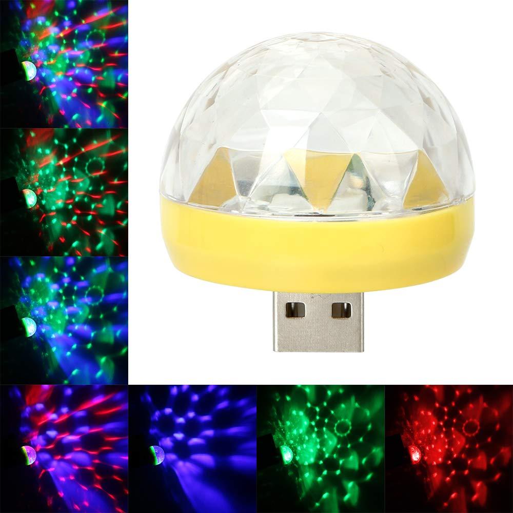Lampes dambiance LED de voiture lampe d/écorative DJ RVB lumi/ères deffet sc/ène /éclairage int/érieur automatique avec prise USB