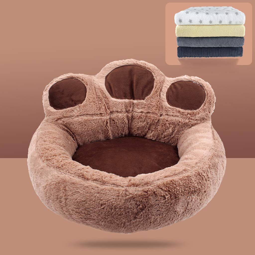 Coffee color 7078cm Coffee color 7078cm Pet nest, four seasons universal removable and washable, small and medium kennel cat winter warm