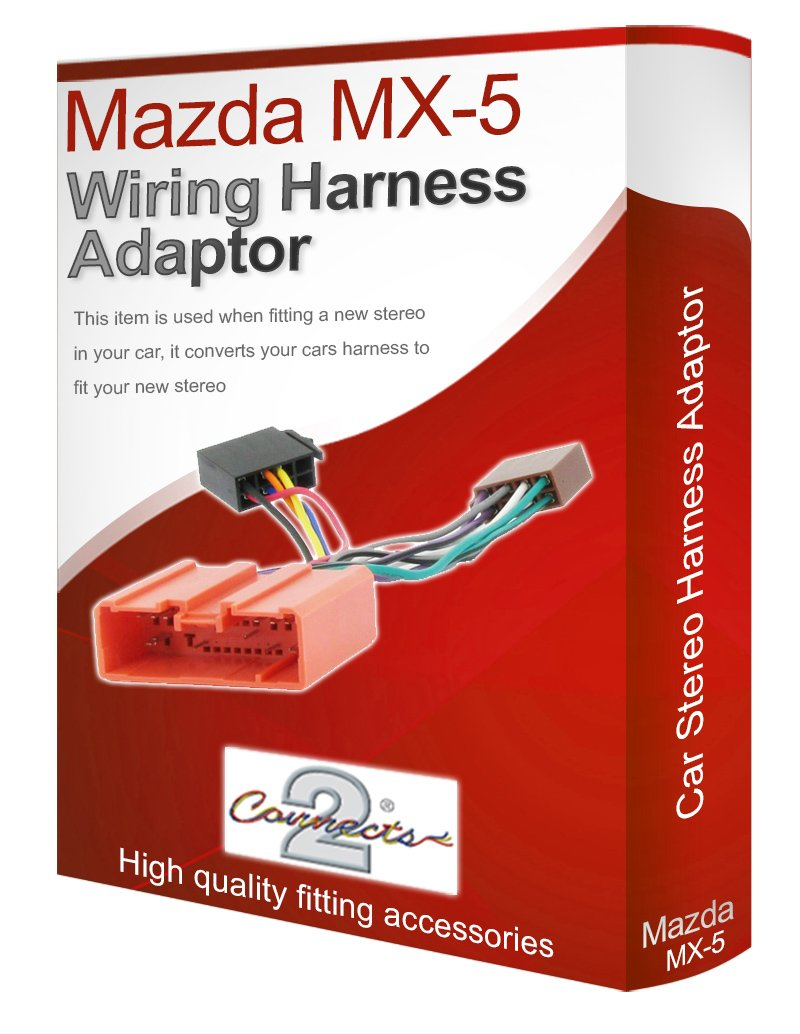 Mazda Mx 5 Cd Radio Stereo Wiring Harness Adapter Lead Miata Electronics