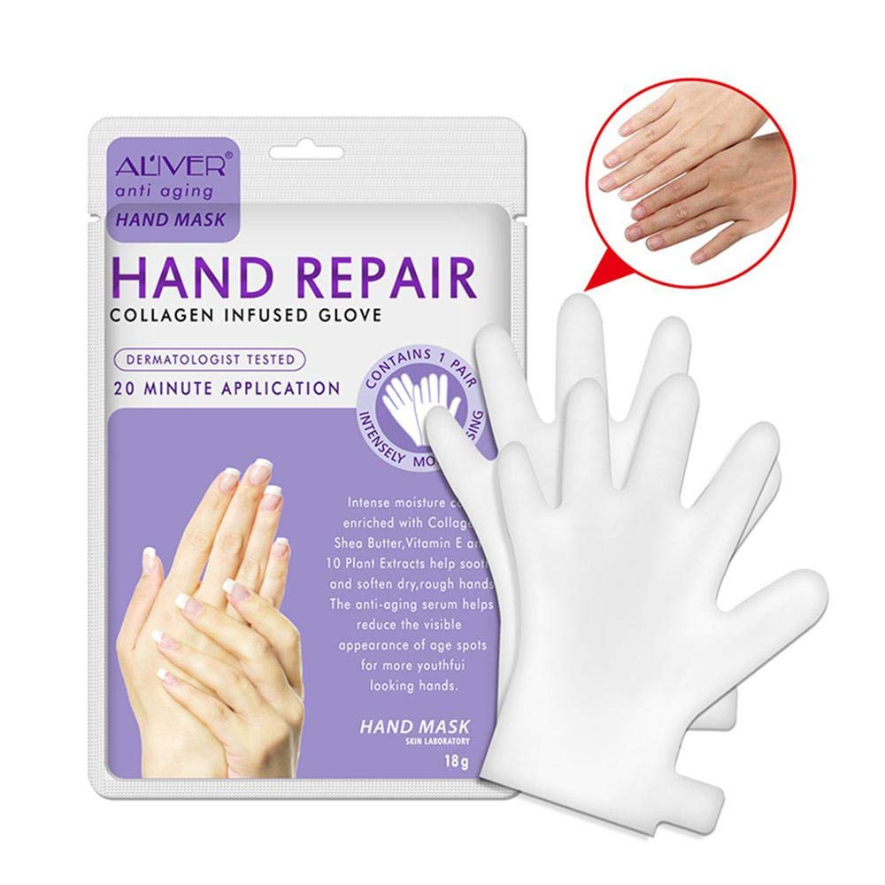 Whitening Hand Mask Gloves, MOGOI 【2018 NEW VERSION】Hand Repair Mask with Natural Nutrient for Removing Wrinkle, Moisturizing and Nourishing Your Dry Hand & Nail