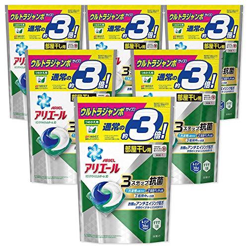 【ケース販売】 アリエール 洗濯洗剤 リビングドライジェルボール3D 詰め替え ウルトラジャンボサイズ 52個×6個