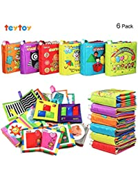 My First Soft Book, 6 PCS Nontoxic Fabric Baby Cloth...