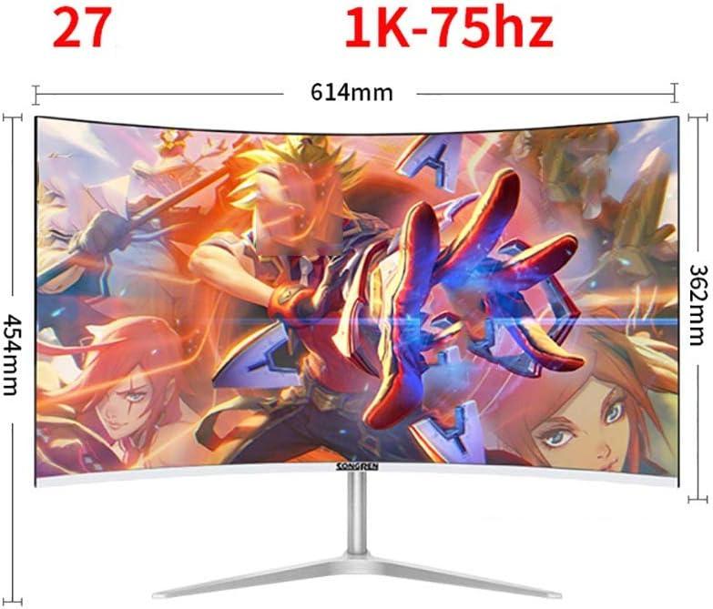 Monitor 2mm Pantalla Sin Bordes, LCD De Escritorio De 27 Pulgadas, MVA Pantalla del Panel De Juego, Pantalla LED De Protección For Los Ojos (Color : B): Amazon.es: Hogar