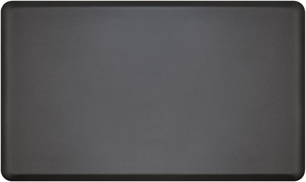 "NewLife by GelPro Anti Fatigue Mat: Eco-Pro Foam Anti-Fatigue Comfort Mat - Standing Desk Pad - Professional Floor Mats for Commercial & Industrial Work - 18"" x 30"" Non Slip Ergonomic Mat - Black"