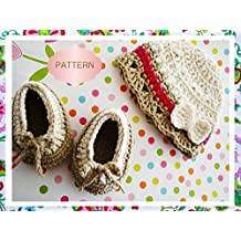 Baby Set-Hat and Shoes-01-Crochet Beanie and Shoes