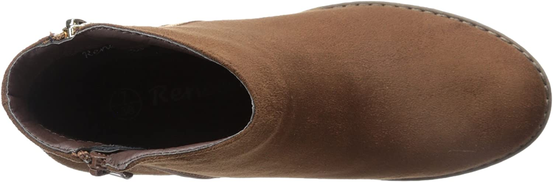 Reneeze Pama-1 Womens Fashionable Stacked Heels Ankle Booties