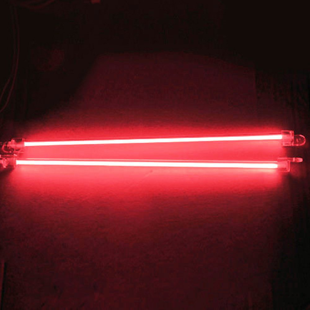 E Support 6 Inch 15cm Car Red Undercar Underbody Neon Kit Lights CCFL Cold Cathode Pack of 2