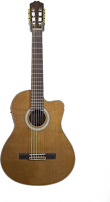 Electro acústica cuerdas de nailon Lisboa corte Away guitarra ...