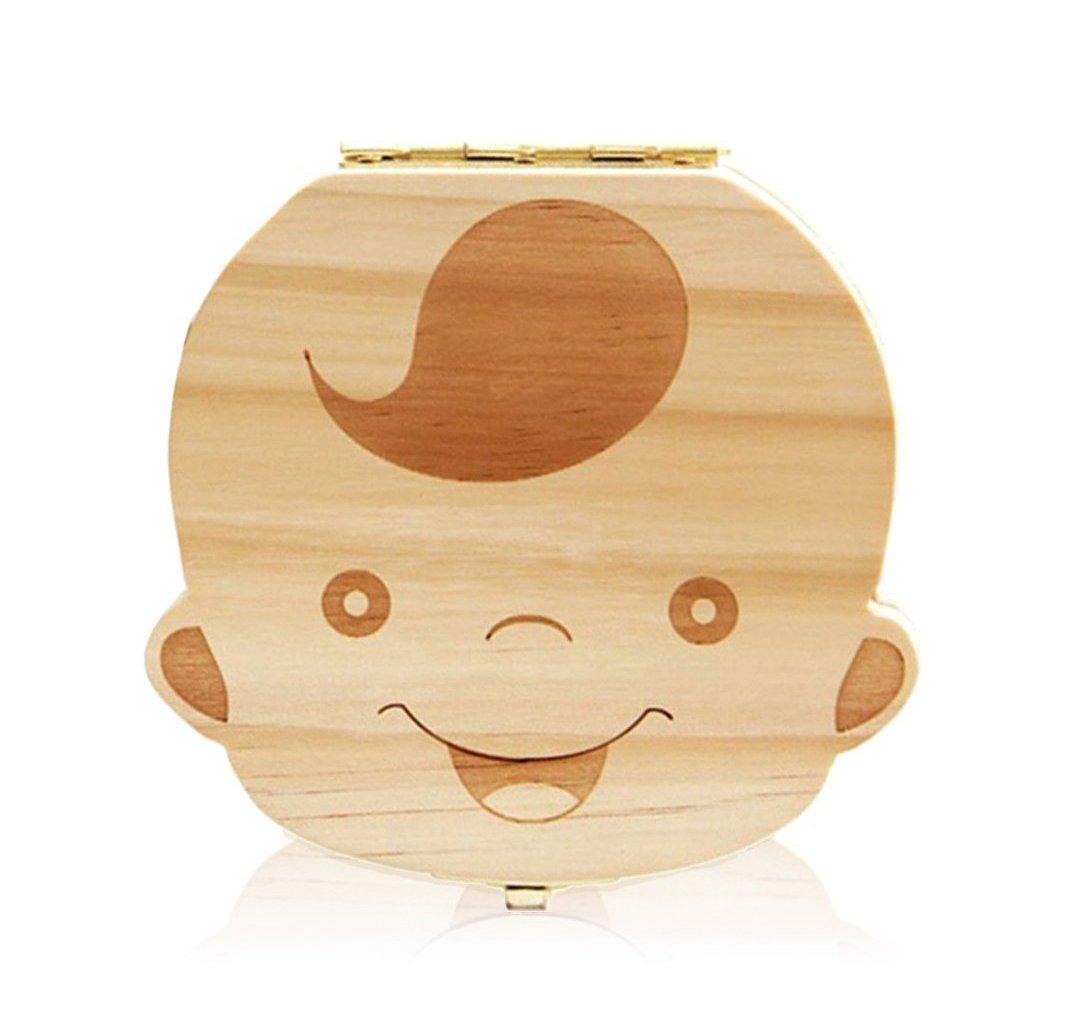 leisial Lovely bebé dientes salvar caja de madera hecho a mano diseño duradero (Boy 's) niño talla única BZT114159QNWXB103