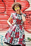 Ankara print dress /African knee length print dress / African wax dress / kitenge dress - Alice red