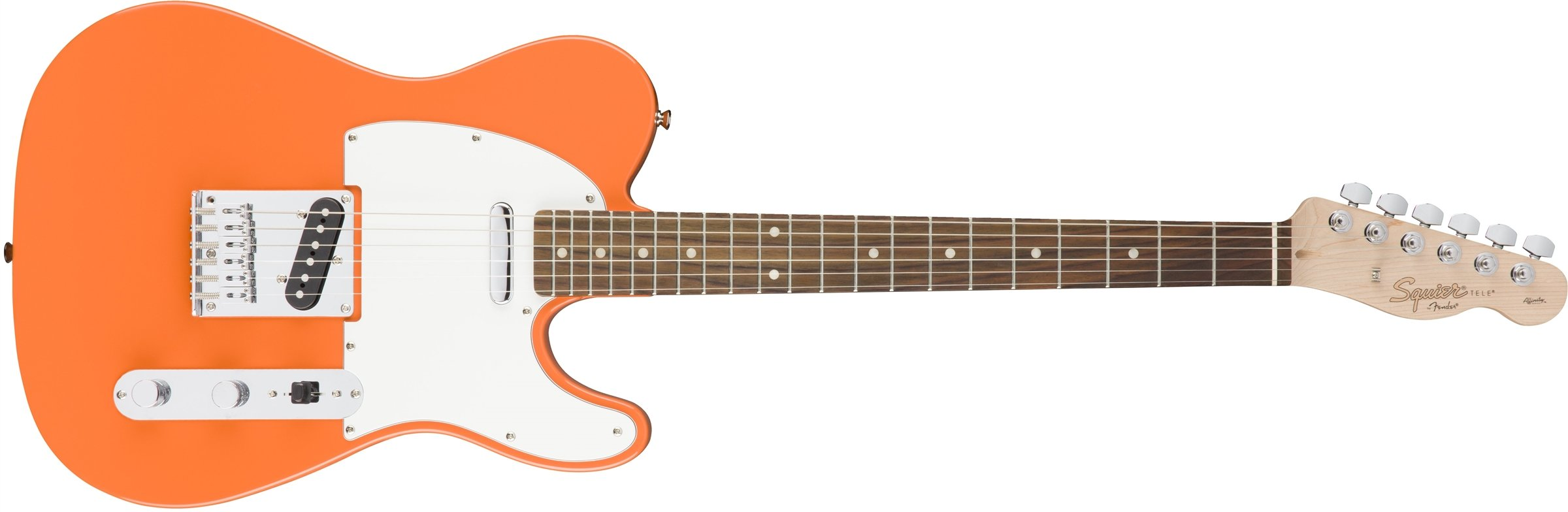 Squier by Fender Affinity Telecaster Beginner Electric Guitar - Rosewood Fingerboard, Competition Orange