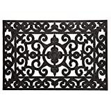 Rubber Scroll Entryway Mat with Nubs-24