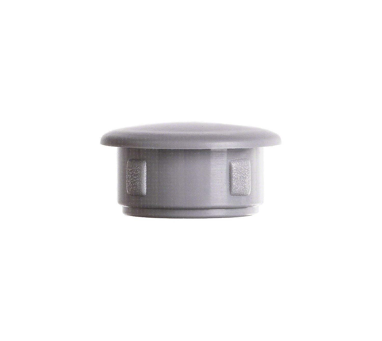 25 Stck Abdeckstopfen 15x12 mm Grau Blindstopfen Kunststoff Verschlusskappe