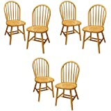 Winsome Wood Windsor Chair, Natural, Set Of 6