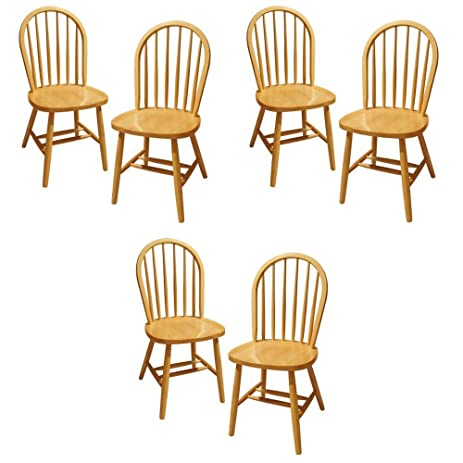 Delightful Winsome Wood Windsor Chair, Natural, Set Of 6