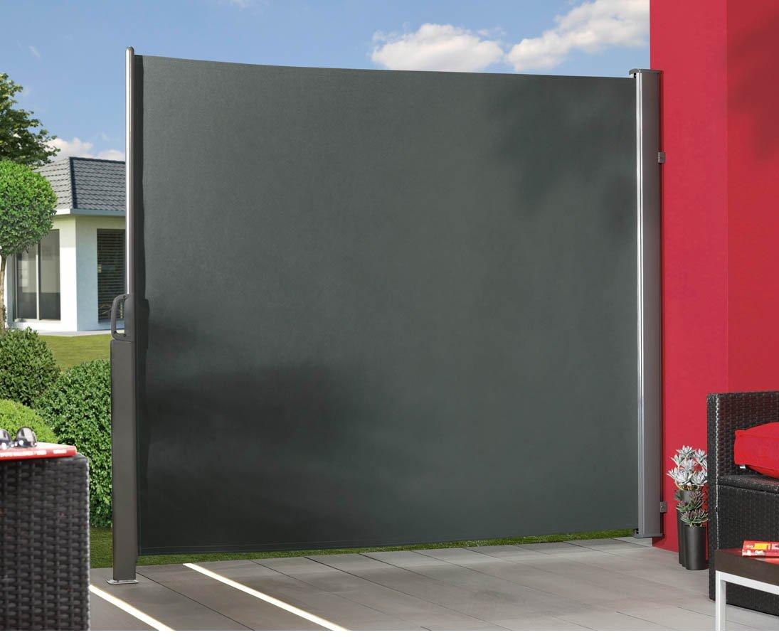 Amazon Seitenmarkise ausziehbar anthrazit 180x350cm