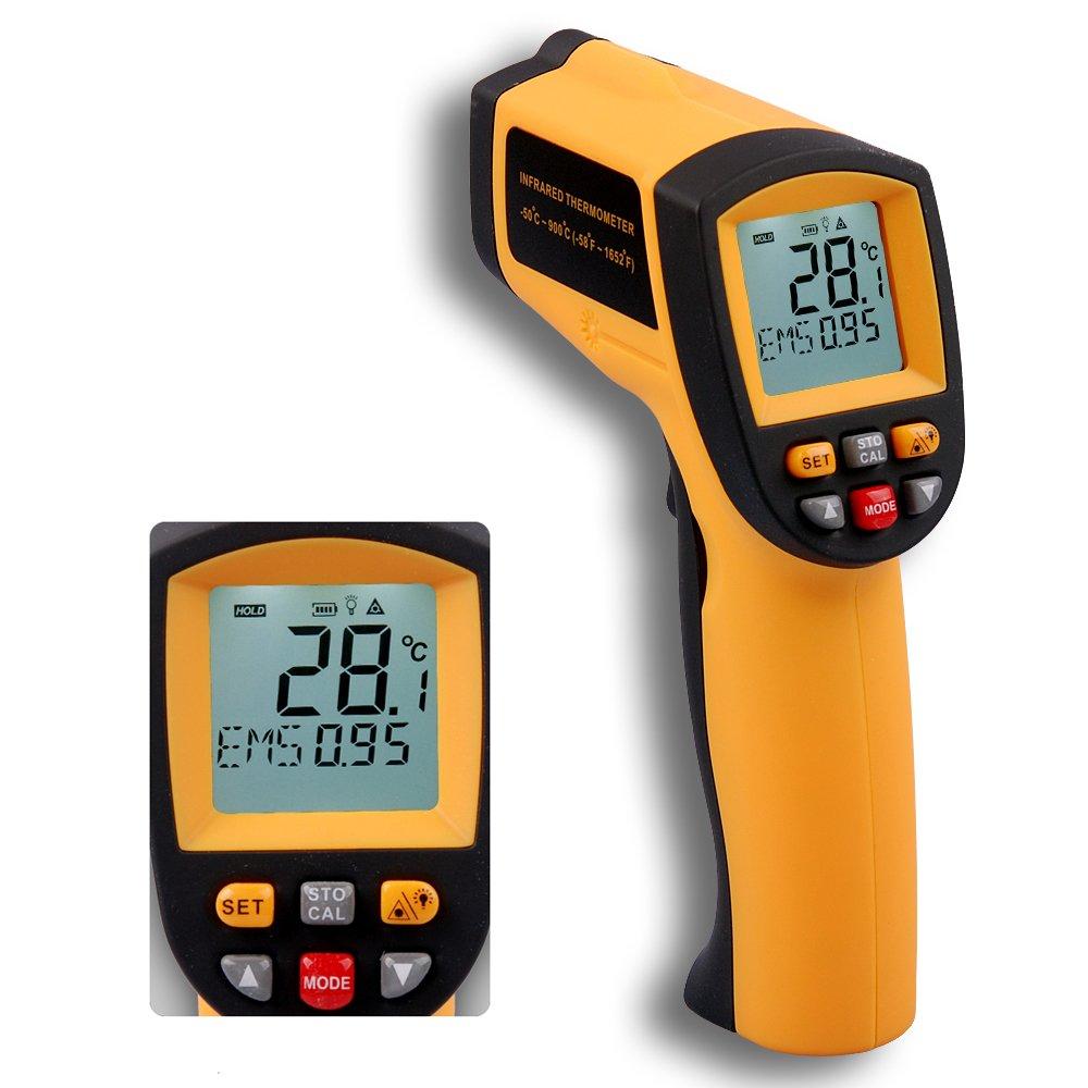 BENETECH GM-900 12: 1 termómetro infrarrojo pirómetro ...